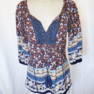 boho blouse with tassles